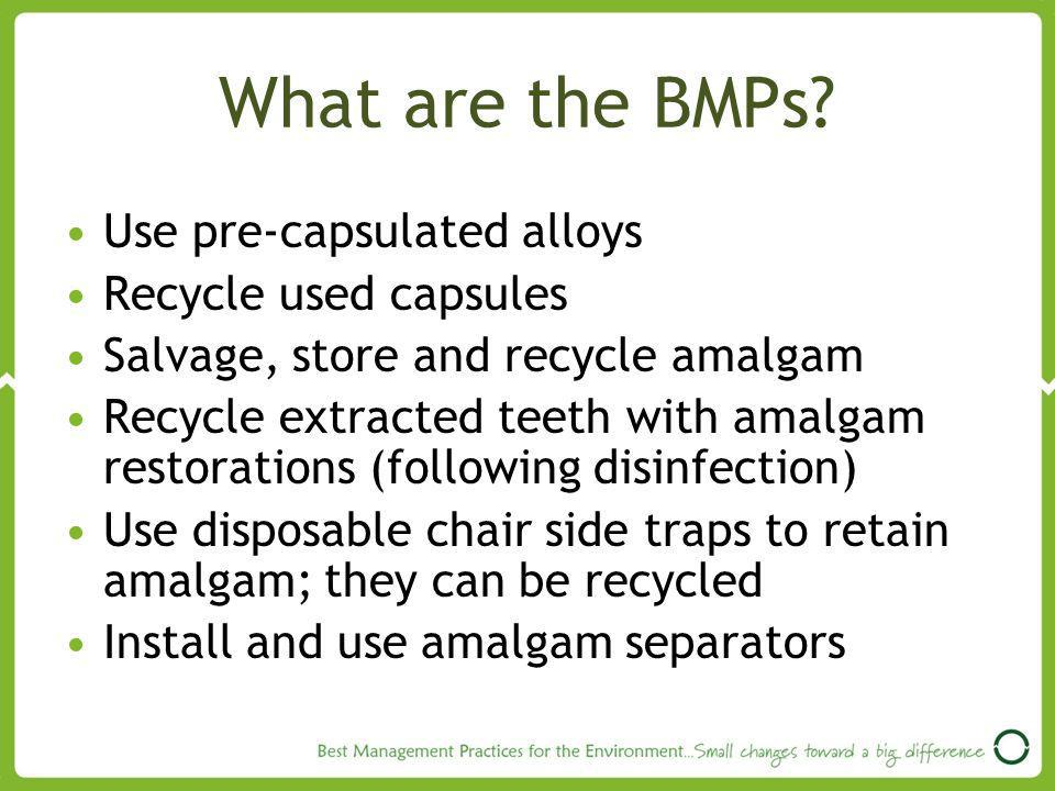 What are the BMPs.