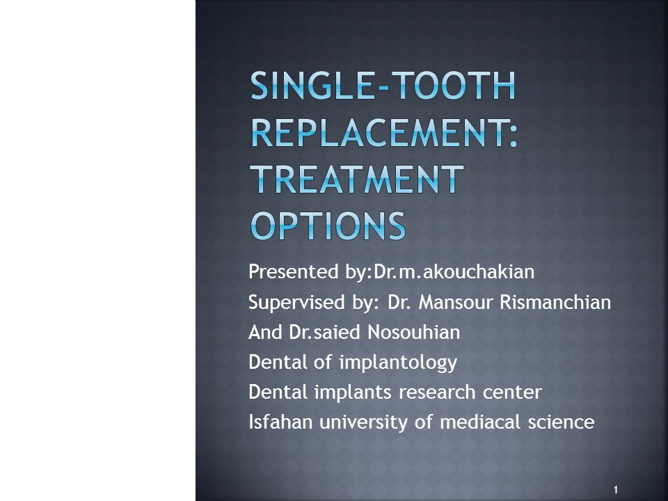 Root resorption may cause the loss of a single anterior tooth.