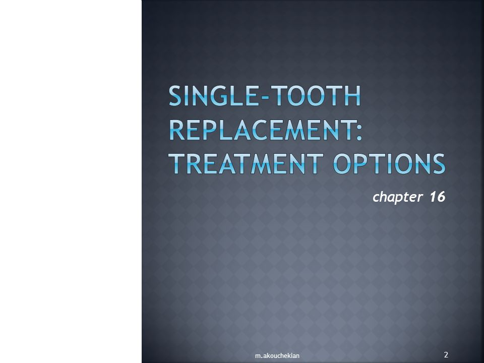 From 1993 to the present time, single-tooth implants have become the most predictable method of tooth replacement.