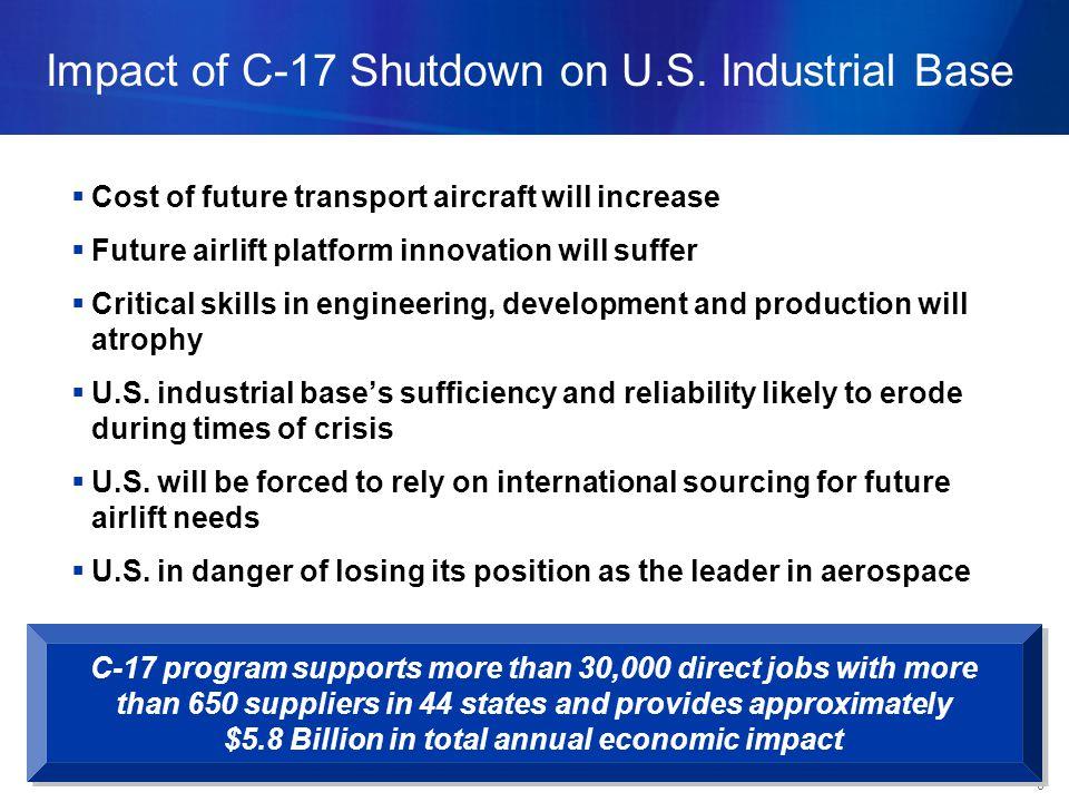 8 Impact of C-17 Shutdown on U.S.