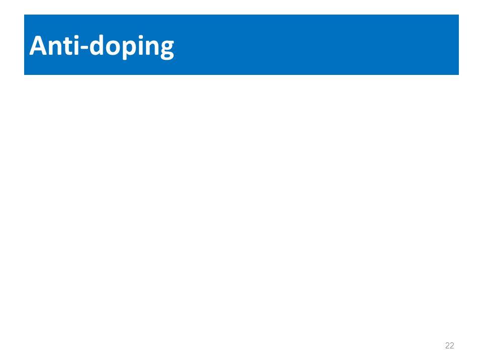 Anti-doping 22