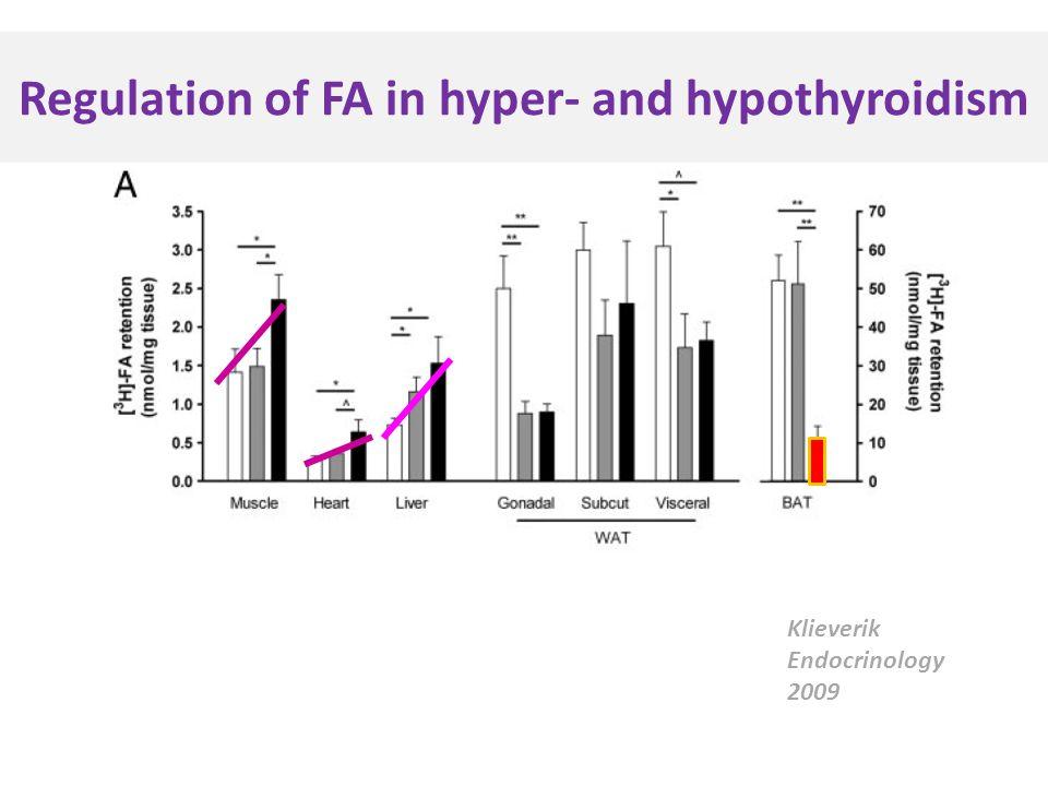 Regulation of FA in hyper- and hypothyroidism Klieverik Endocrinology 2009