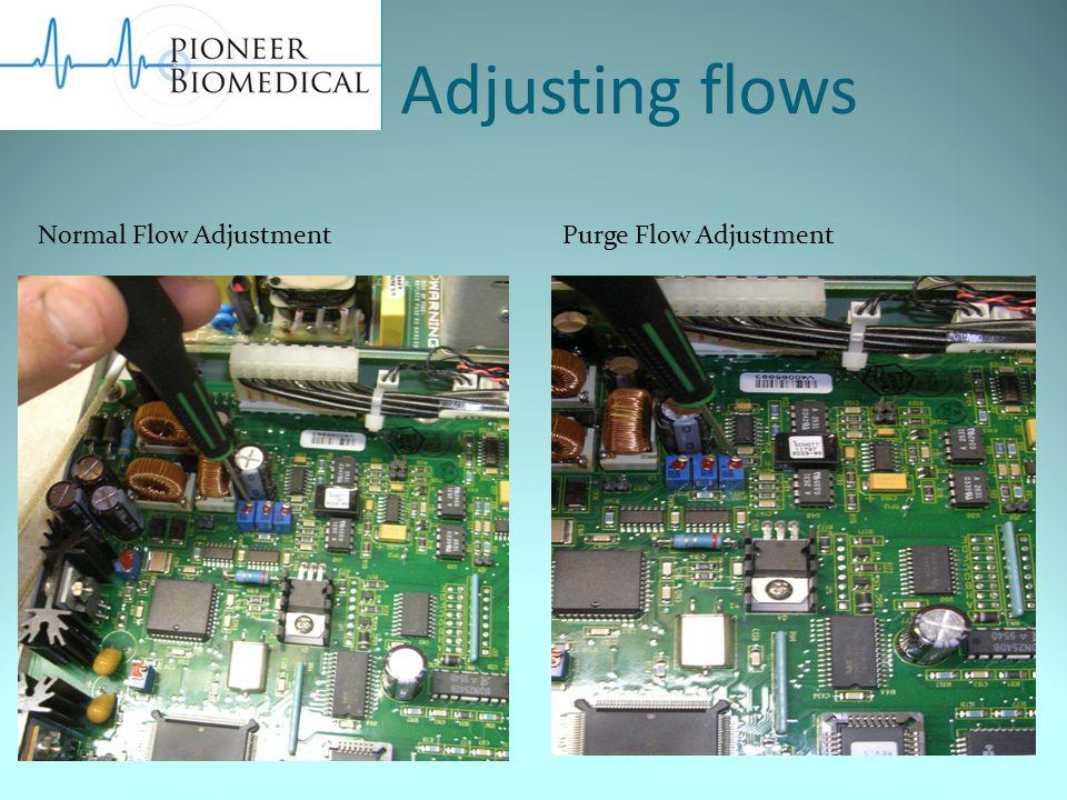 Adjusting flows Normal Flow AdjustmentPurge Flow Adjustment