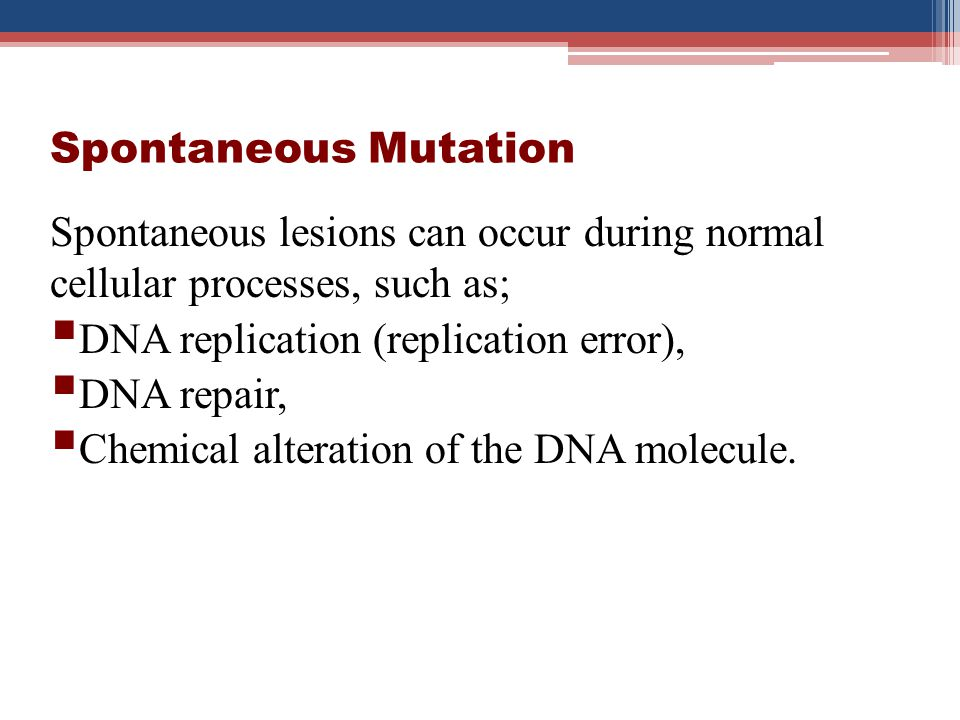 Effect of Mutation No effect (silent mutation) Beneficial Harmful effect that leads to outright disease or death.