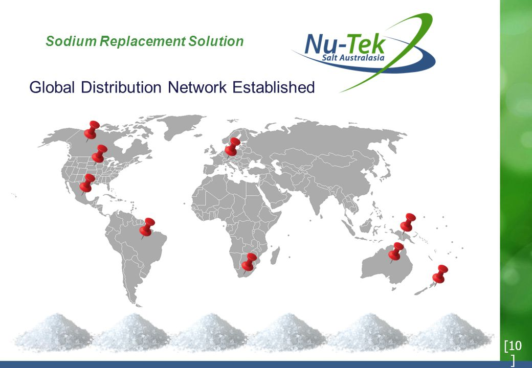 Sodium Replacement Solution [10 ] Global Distribution Network Established