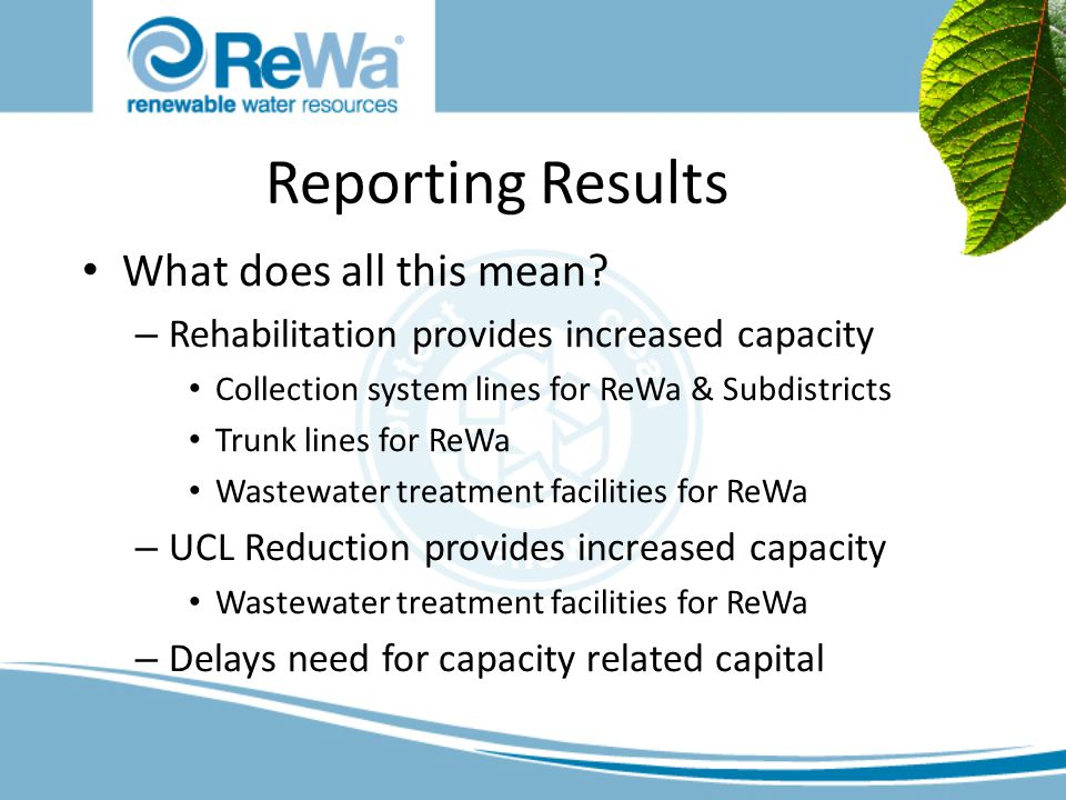 Reporting Results What does all this mean.