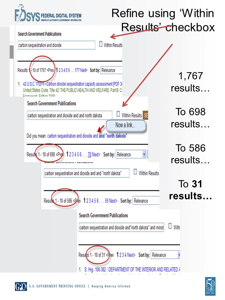 1,767 results… To 698 results… To 586 results… To 31 results… Refine using Within Results checkbox