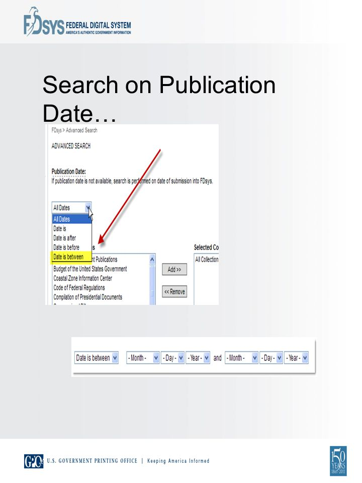 Search on Publication Date…