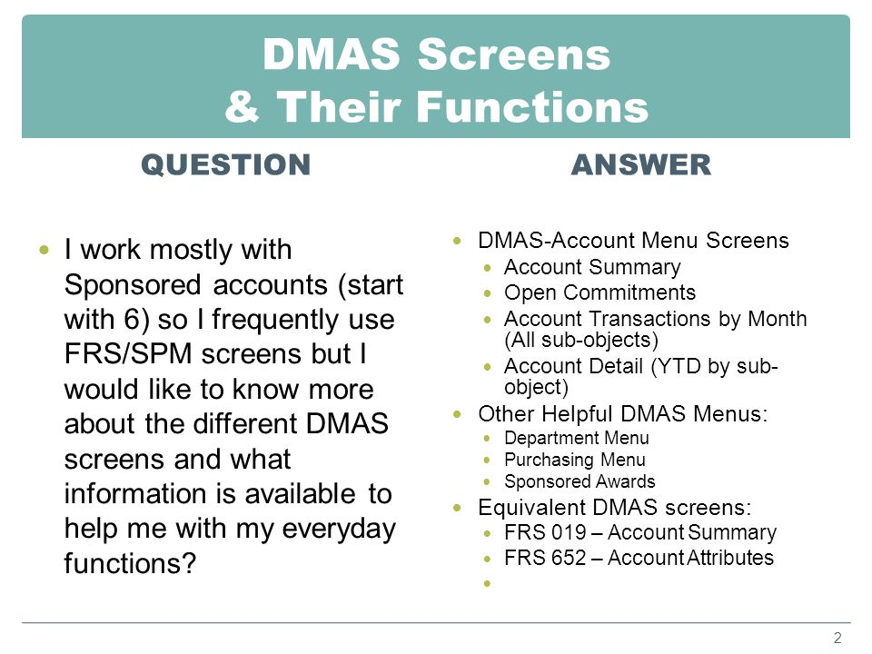 Sub-Object Codes for Revenue & Expenses QUESTION When reviewing transactions in DMAS, where do we look up what sub-object codes represent.