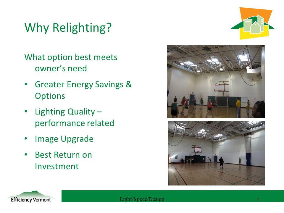 5 Examples: Gardeners Supply Motivation Energy cost savings Kilawatt Partners- ESCO suggestion Green Image Light improvement- reduce LLF 120,000 sf Distribution Center/Warehouse Light/Space/Design5