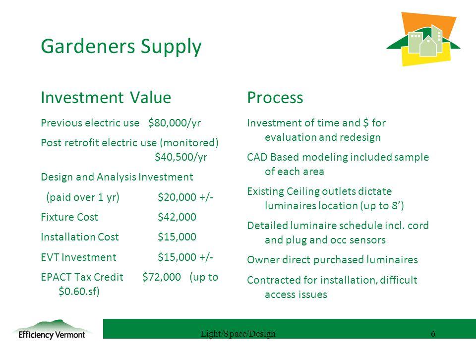 7 Gardeners Supply Light/Space/Design7
