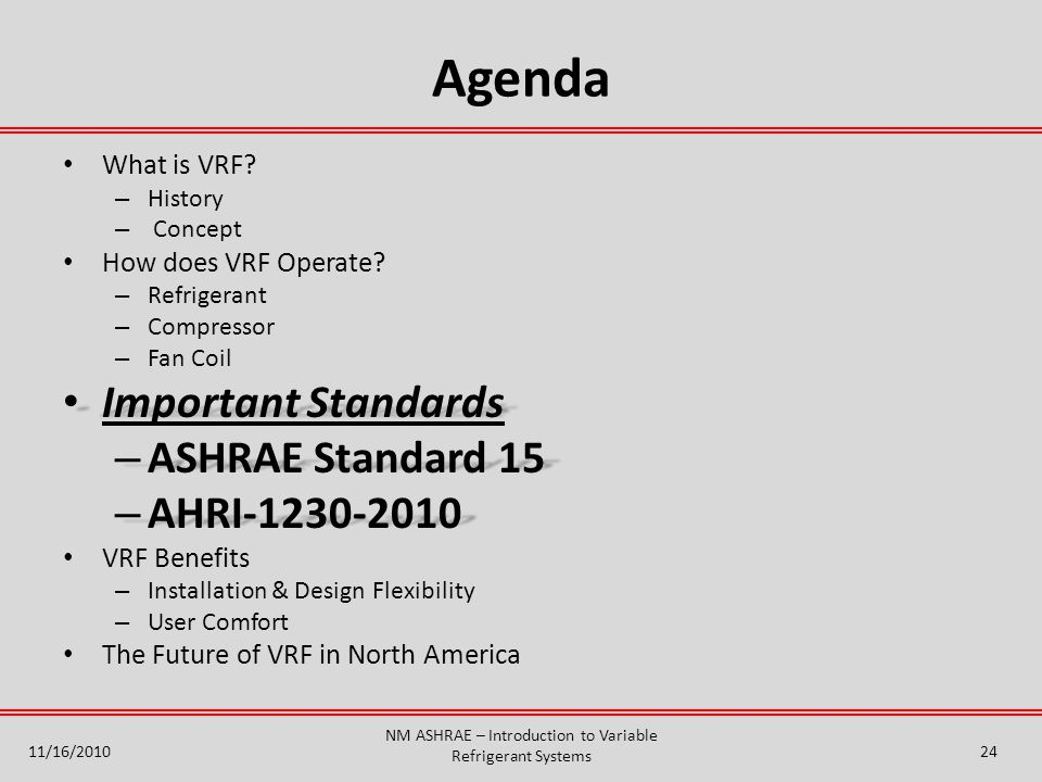 Agenda What is VRF.– History – Concept How does VRF Operate.