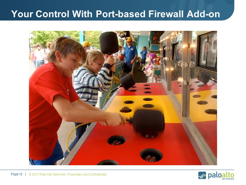 Your Control With Port-based Firewall Add-on © 2011 Palo Alto Networks.