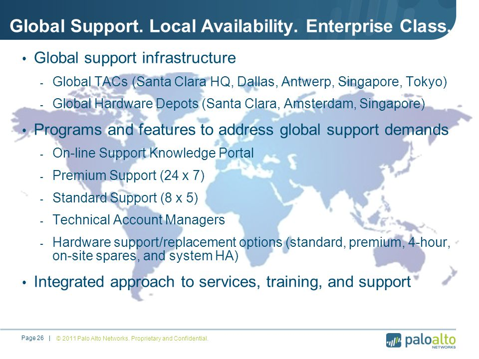 Global Support.Local Availability. Enterprise Class.