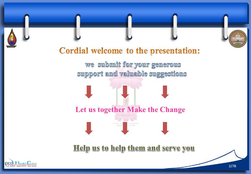 Let us together Make the Change 2/78
