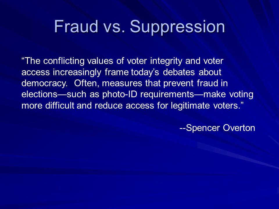 Fraud vs.