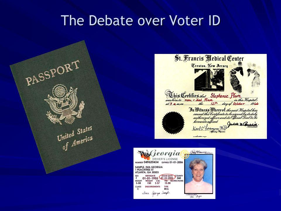 The Debate over Voter ID
