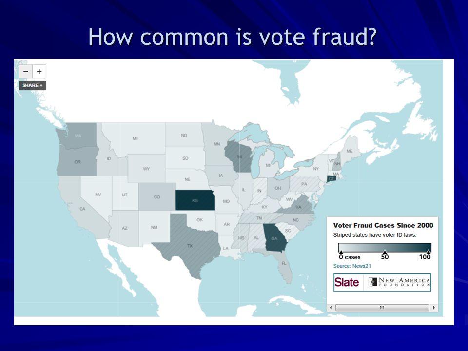 How common is vote fraud?
