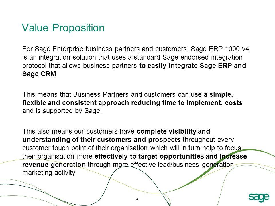 5 Sage CRM Integration Reporting & Application Architect ERP Features & Enhancements Sage Asset 1000 V4V4
