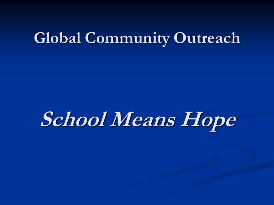 Global Community Outreach