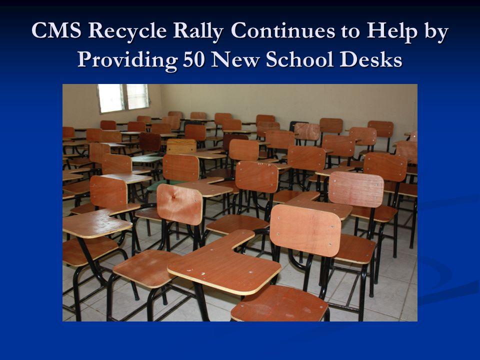 Broken and rotting teachers desks