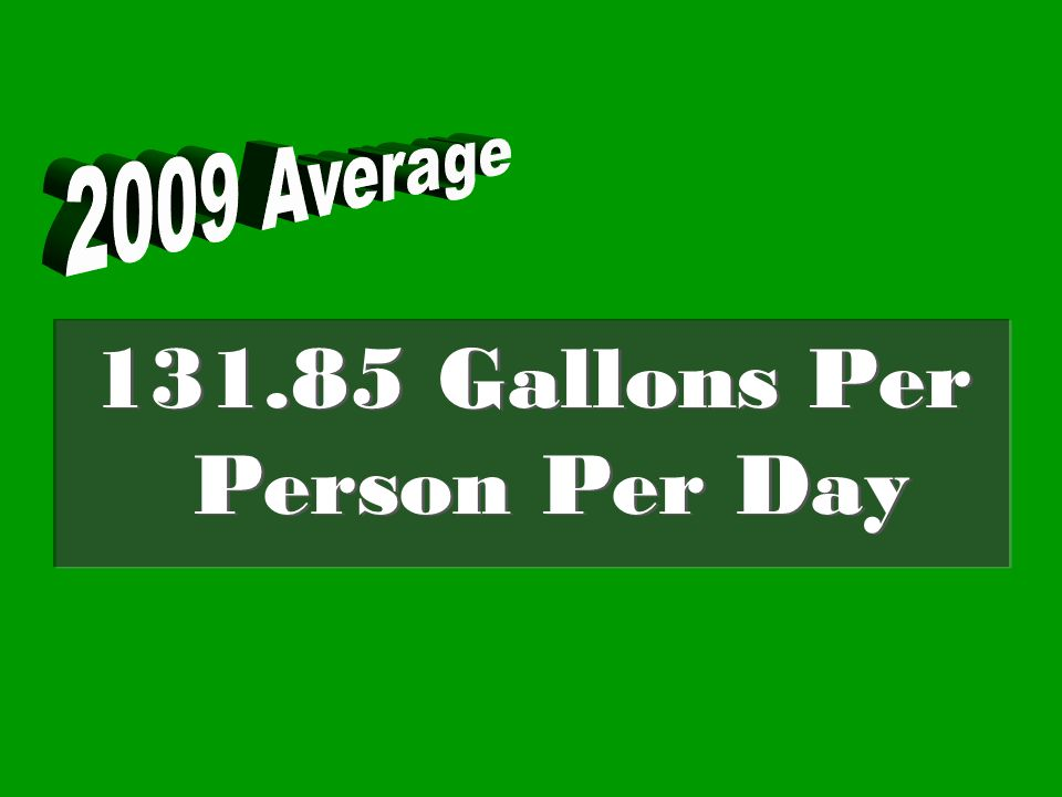 131.85 Gallons Per Person Per Day