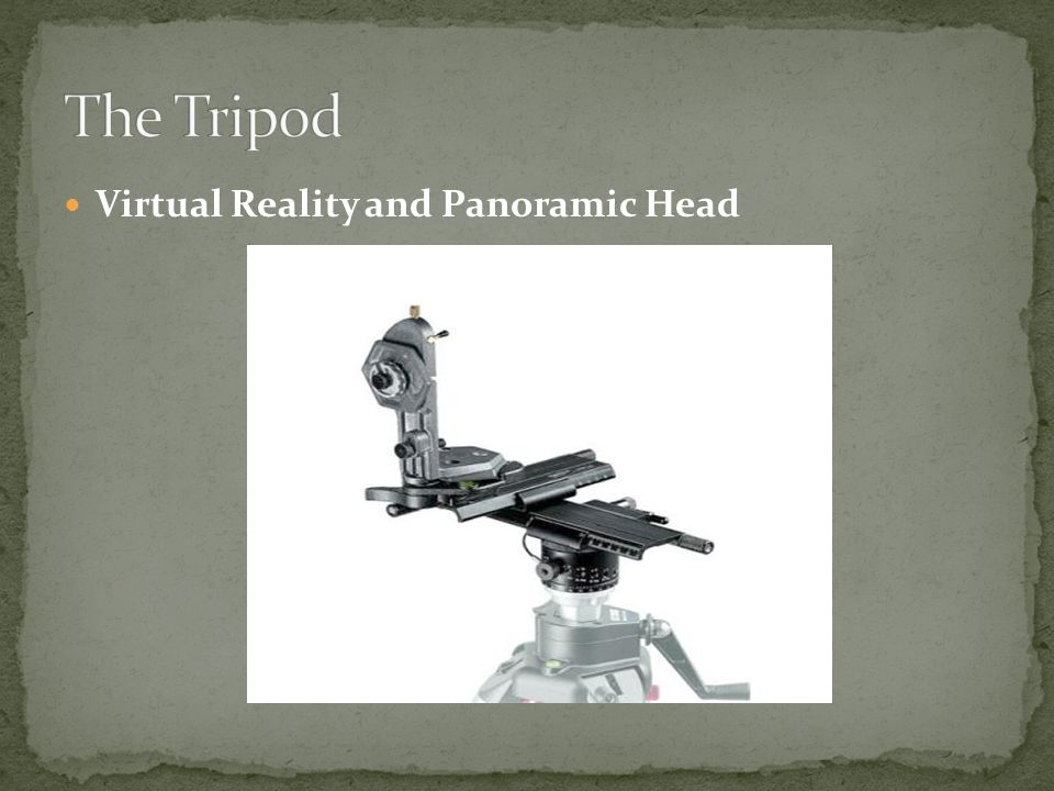 Virtual Reality and Panoramic Head