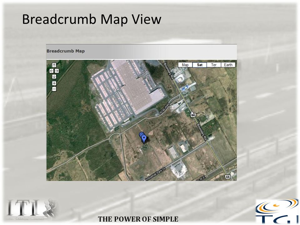 Breadcrumb Map View THE POWER OF SIMPLE