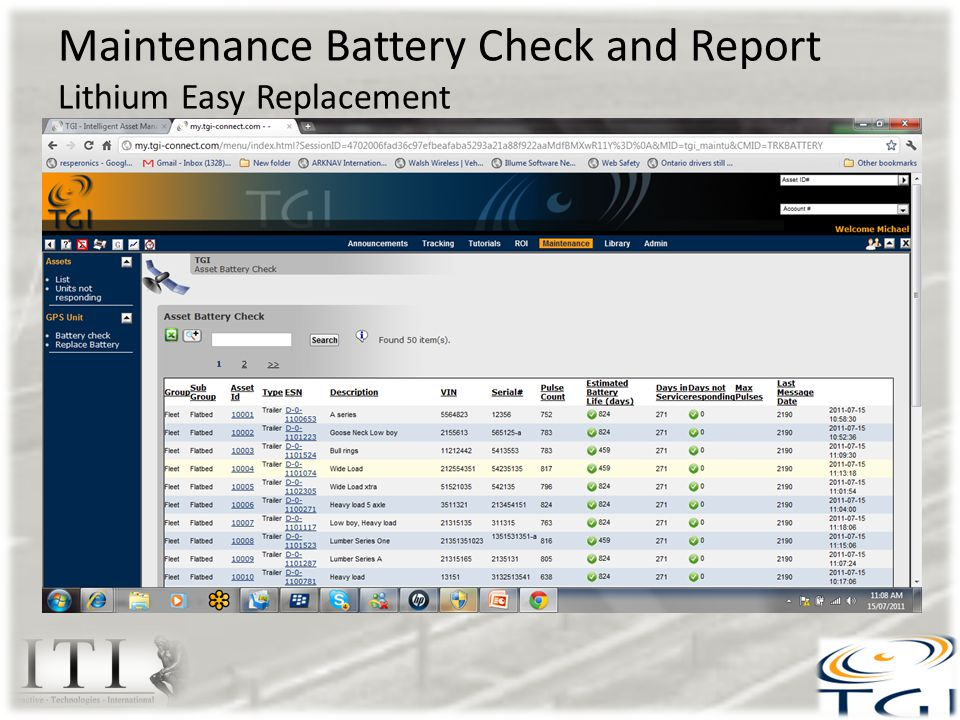 Maintenance Battery Check and Report Lithium Easy Replacement