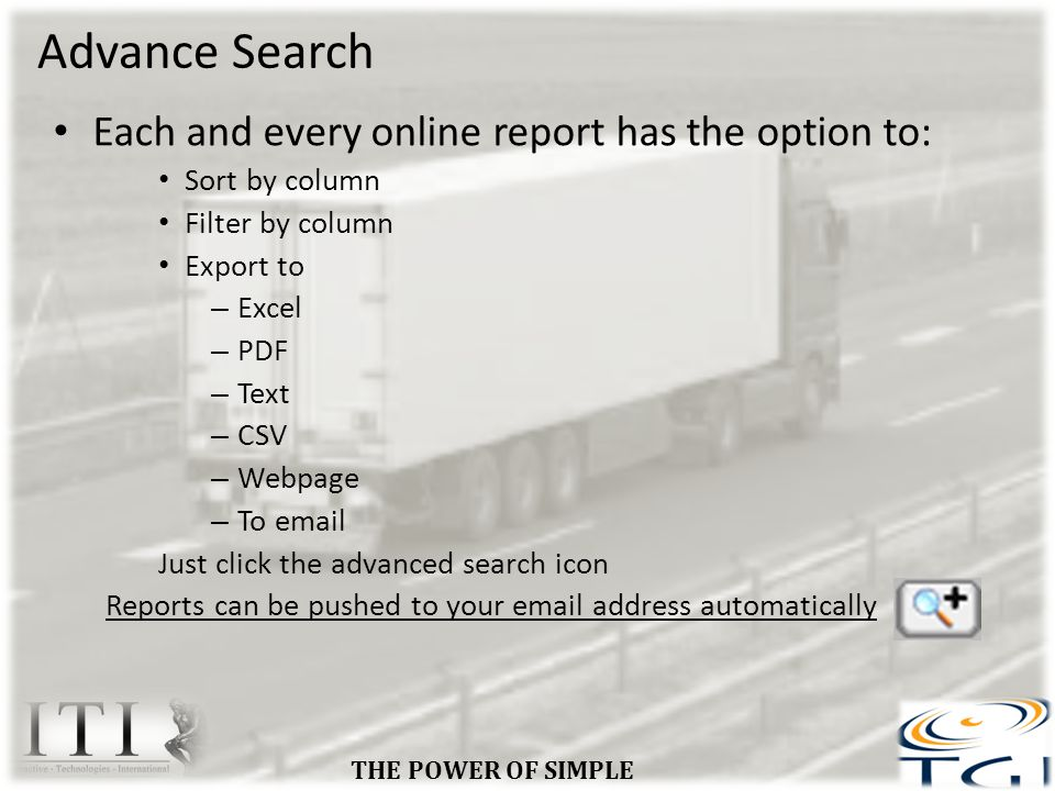 Advance Search THE POWER OF SIMPLE