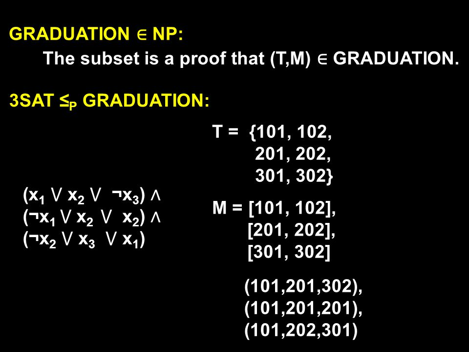 HAMPATH = { G,s,t | G is a graph with a Hamiltonian path from s to t } Theorem: HAMPATH is NP-Complete (1) HAMPATH NP (2) 3SAT P HAMPATH