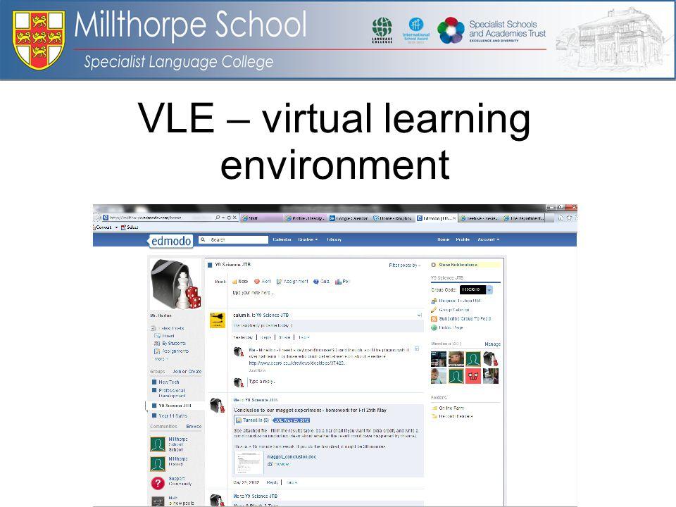 VLE – virtual learning environment