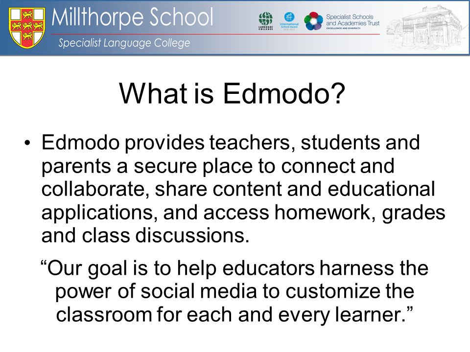 What is Edmodo.