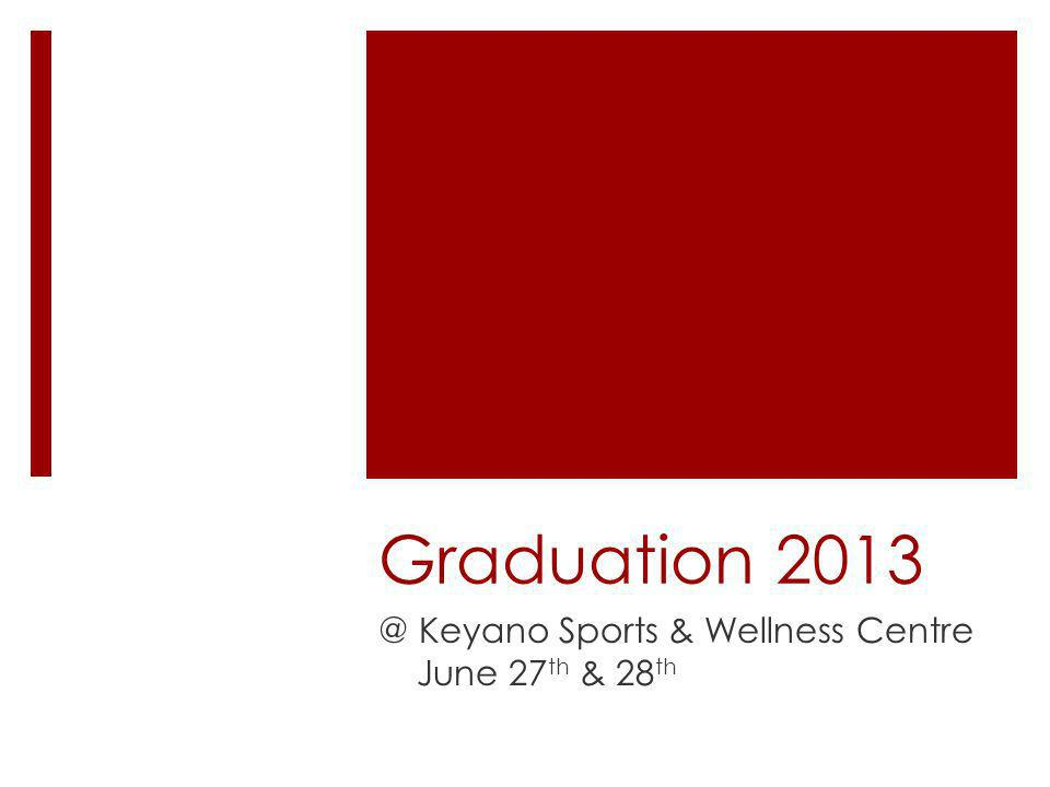 Graduation 2013 @ Keyano Sports & Wellness Centre June 27 th & 28 th