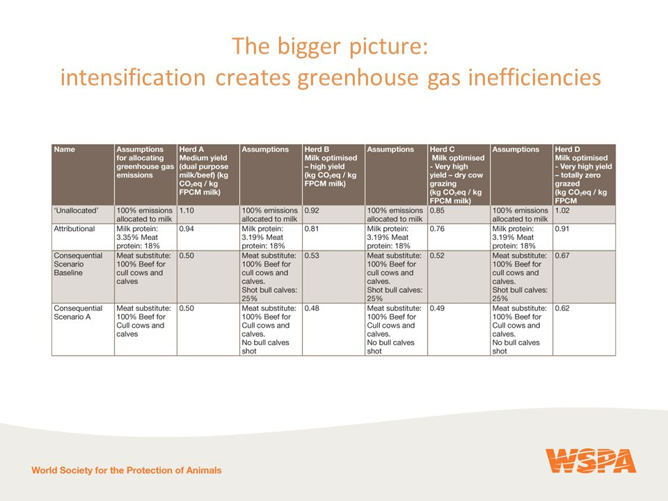 The bigger picture: intensification creates greenhouse gas inefficiencies