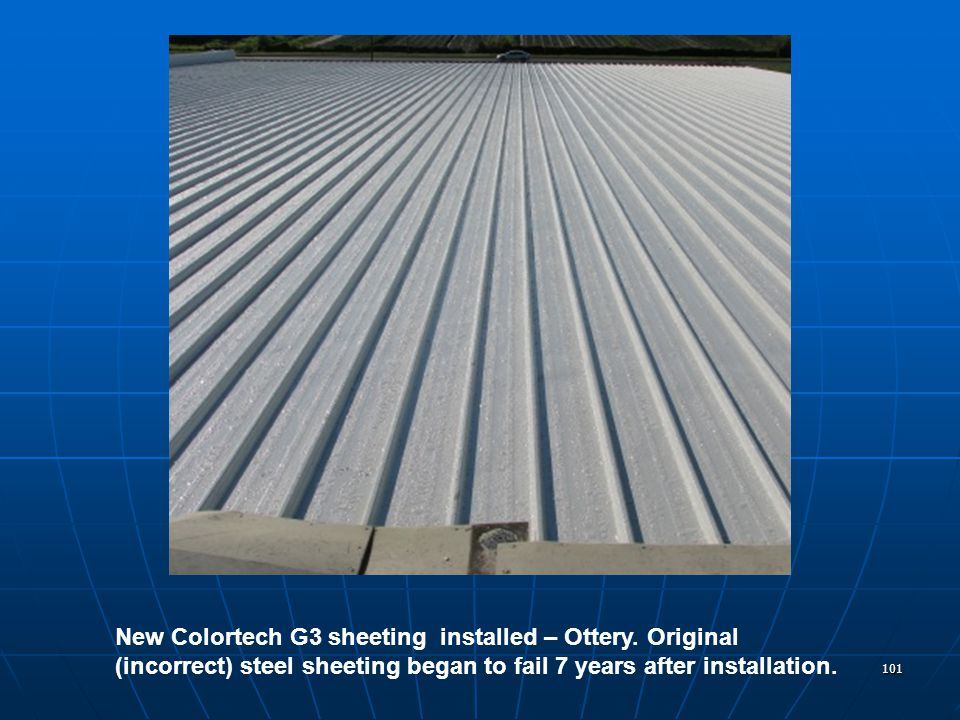 101 New Colortech G3 sheeting installed – Ottery.