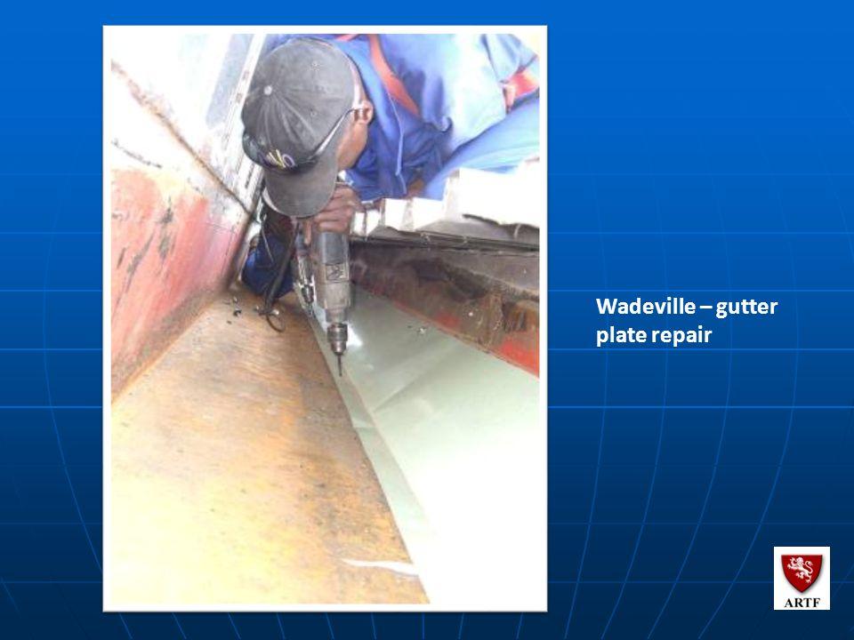 111 Wadeville – gutter plate repair