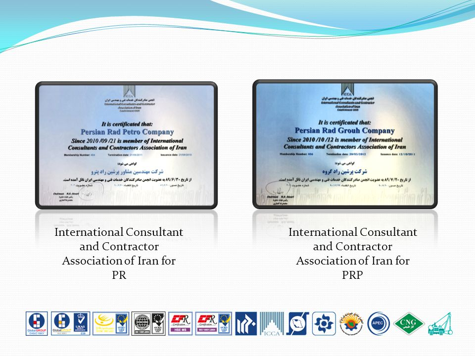International Consultant and Contractor Association of Iran for PR International Consultant and Contractor Association of Iran for PRP