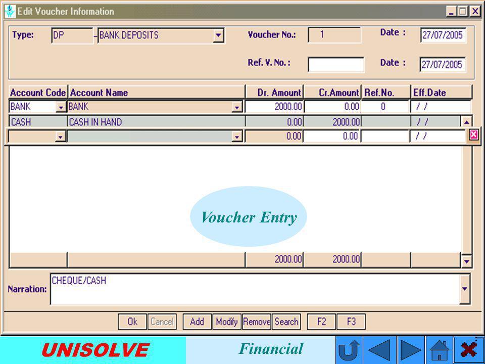 UNISOLVE Account Statement Financial