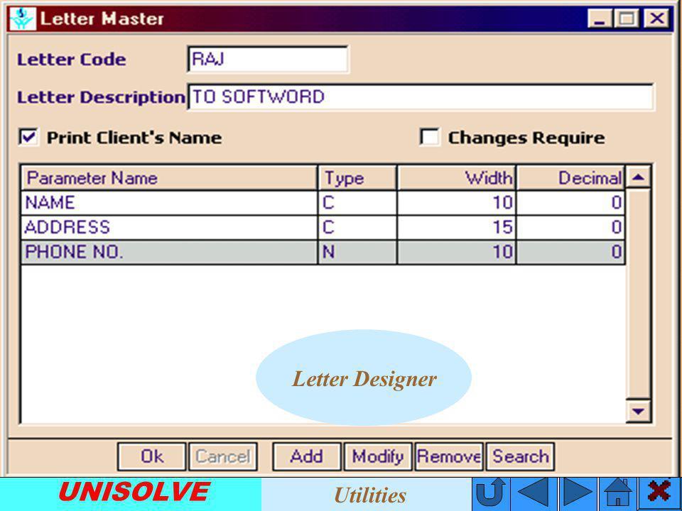 UNISOLVE E-Mail Utilities