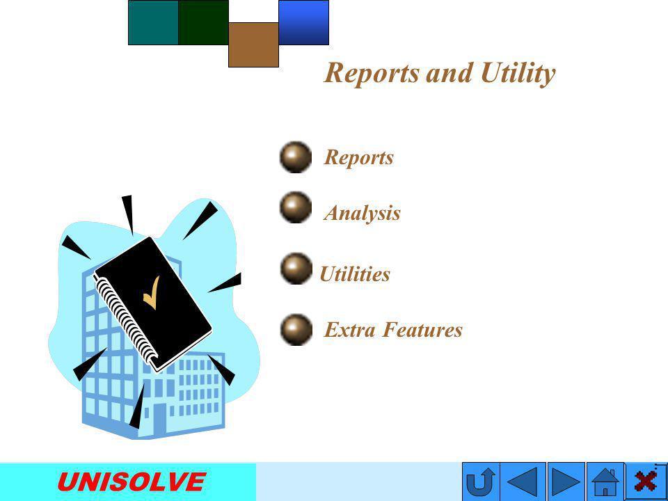 UNISOLVE Report Designer Utilities