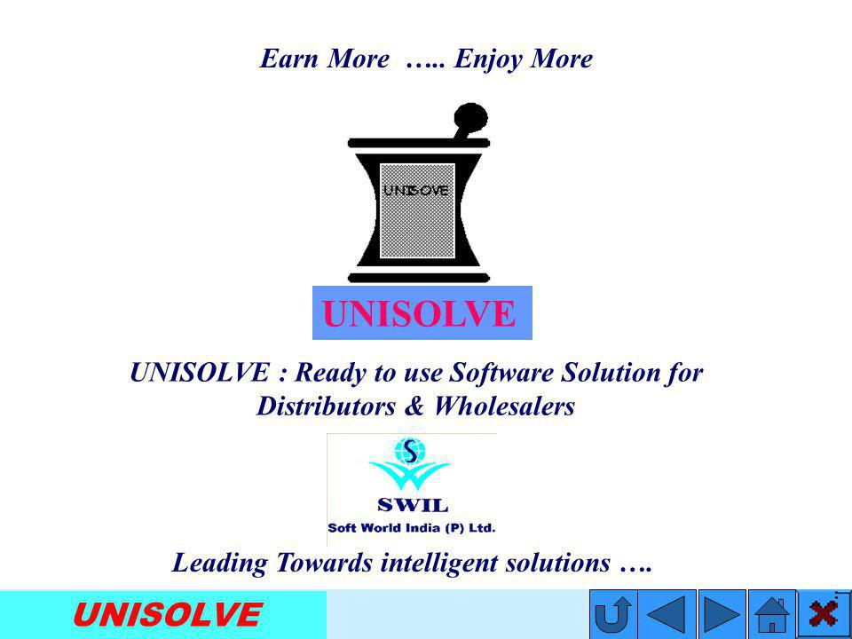 UNISOLVE For Distributors & Wholesalers Leading Towards Intelligent Solutions…. Benefits: Serve your customers in an efficient manner Analyze your bus