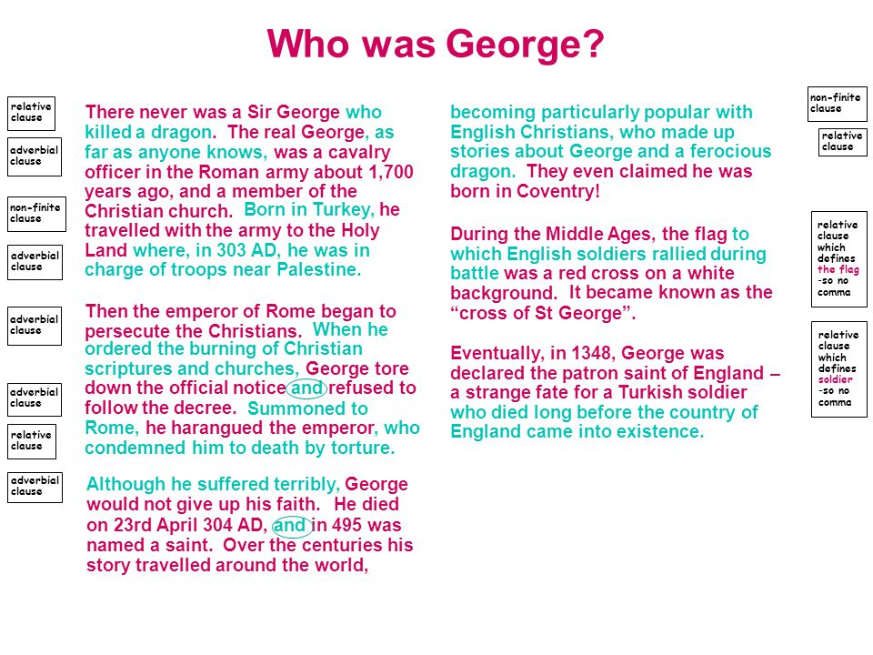 Who was George.