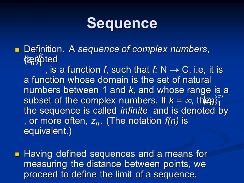 Sequence Definition.