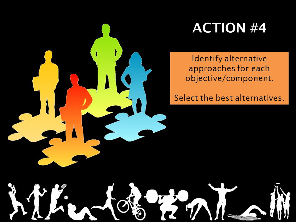 ACTION #4 Identify alternative approaches for each objective/component.