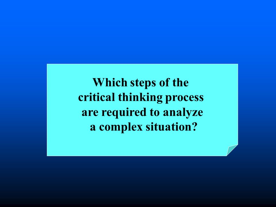 A complex situation requires complex tought, combining ones intuition with thinking that is:.