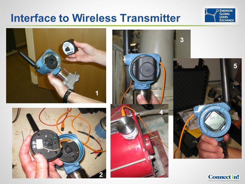 Interface to Wireless Transmitter 1 2 3 4 5