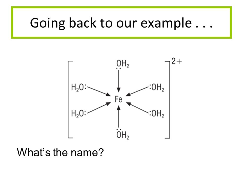 Going back to our example... Whats the name?