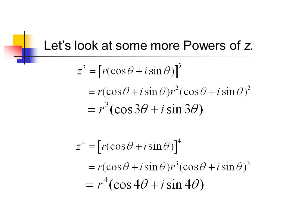 Lets look at some more Powers of z.