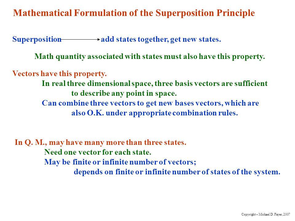 DiracCall Q.M.vectors ket vectors or just kets.